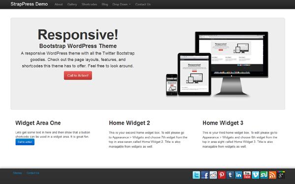 WrapBootstrap – StrapPress WordPress Theme