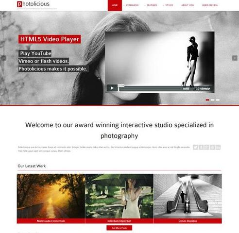 YJ Photolicious Photo Studio Template for Joomla 2.5