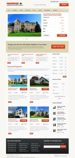 YJ Properties Responsive Real Estate Joomla 2.5 Template
