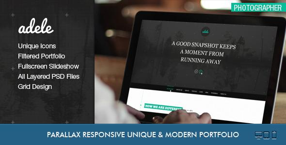 Adele – Boostrap Responsive & Clean HTML5 Template