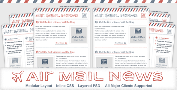 Air Mail News – Newsletter Email Template