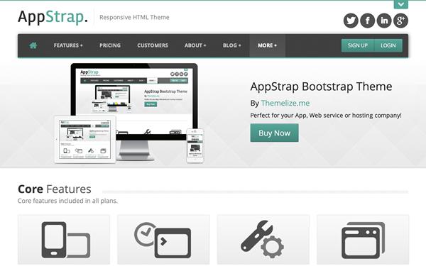 AppStrap Responsive App Theme