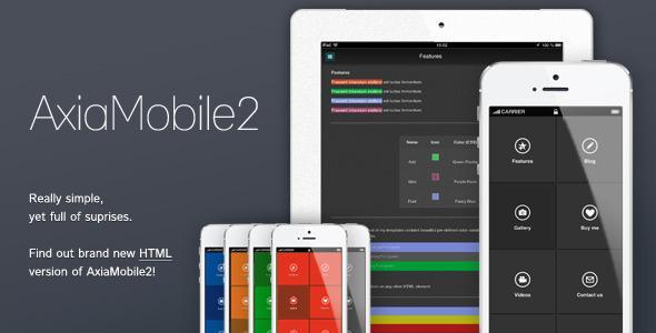 AxiaMobile2 – Multipurpose Mobile Template HTML