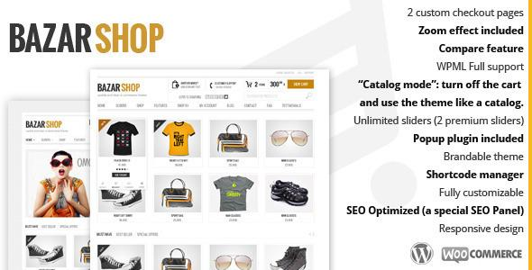 Bazar Shop – Multi-Purpose e-Commerce Theme v1.2 for WordPress