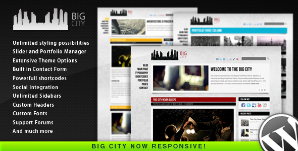 Big City v2.0 – Personal and Blog WordPress theme
