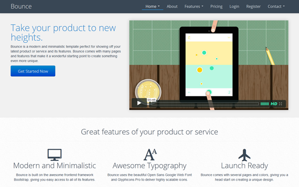 Bounce Landing Page