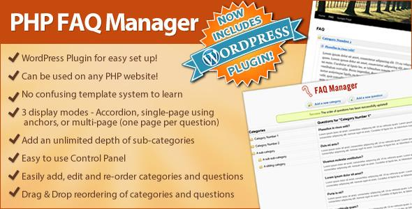 FAQ Manager (Standalone or integrate to WordPress)