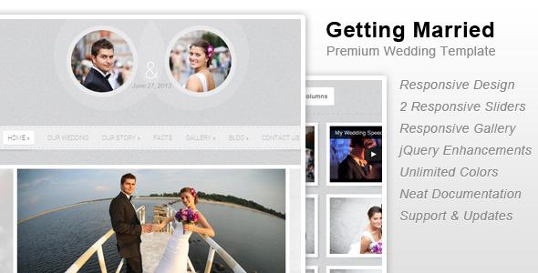 Getting Married – Responsive Wedding Template