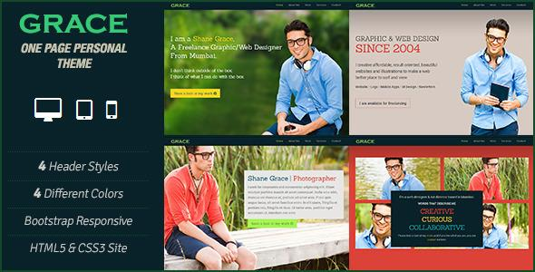 Grace – One Page Personal Parallax Scrolling Theme