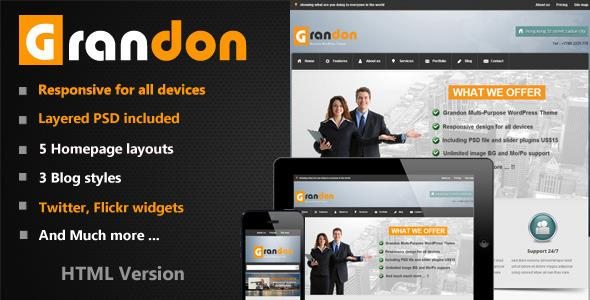 Grandon Multi-Purpose HTML Template