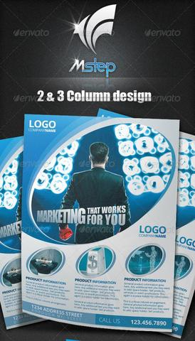 GraphicRiver – 2 Simple Business Flyer Template