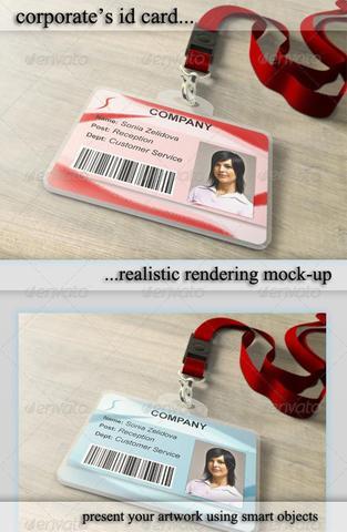 GraphicRiver – ID Card Holder Mockup