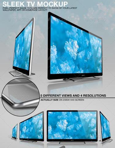 GraphicRiver – Sleek TV Mockup