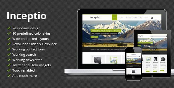 Inceptio – Responsive Multi-Purpose HTML Template