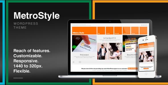 MetroStyle Responsive All Purpose WordPress Theme v1.3.5