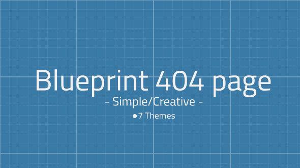 MojoThemes – Blueprint 404 Page