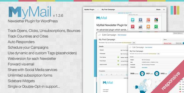 MyMail V1.3.6 – Email Newsletter Plugin for WordPress