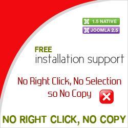 No Right Click, No Copy for Joomla 1.5 & 2.5 & 3.0