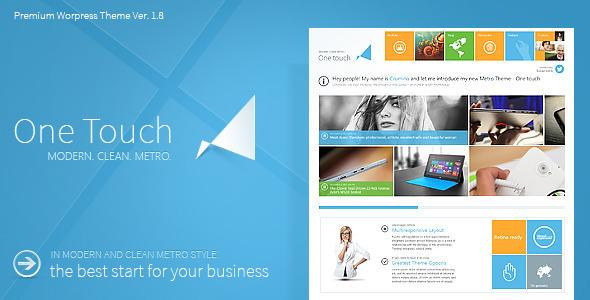 One Touch – Multifunctional Metro Stylish Theme v 1.8.7.1 for WorldPress