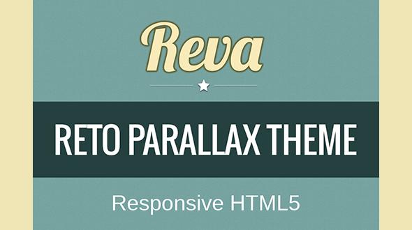 REVA – Retro Parallax Responsive HTML5 Theme