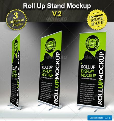 Roll Up Stand Mockup – Smart Template Display