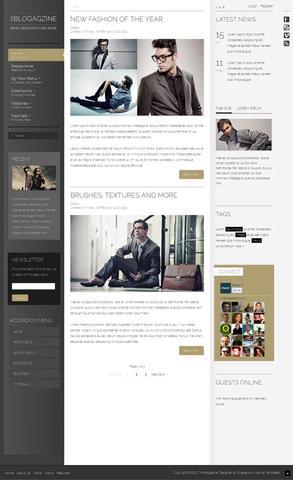 Shape5 The Blogazine – March 2013 Joomla 2.5 Club Template