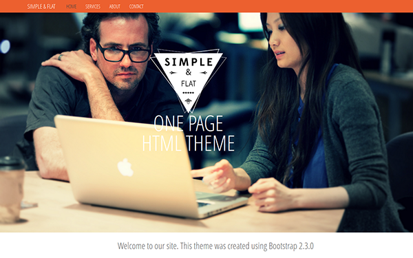 Simple & Flat – One Page Theme