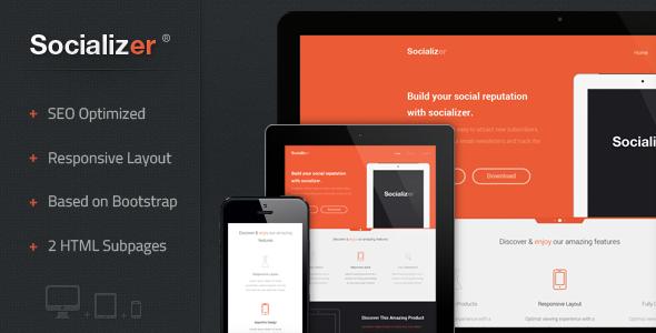 Socializer – Responsive Landing Page