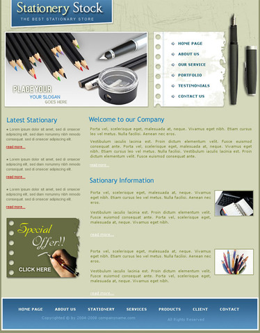 Stationery Stock – Valid CSS Templates