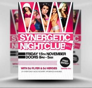 Synergetic Party Flyer/Poster PSD Template