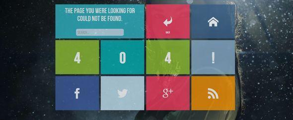 Themeforest – 404! – A windows 8 / metro style 404 error page