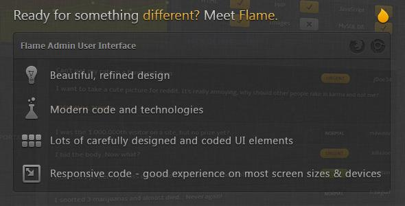 Themeforest – Flame Admin User Interface
