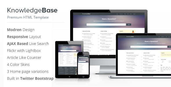 ThemeForest – Knowledge Base HTML Template