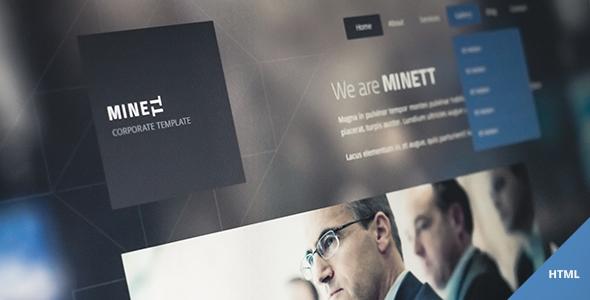 Themeforest – MINETT – responsive HTML template