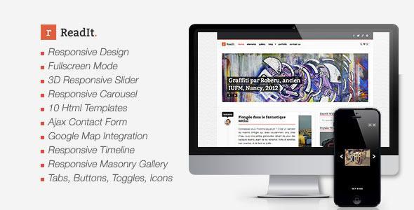 ThemeForest – ReadIt Creative Site Templates