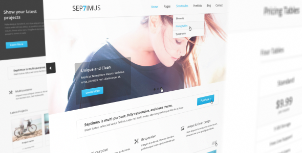 ThemeForest – Septimus Responsive Site Template