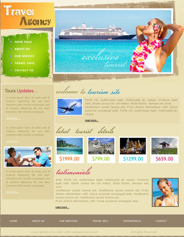 Tropical Traveler – Valid CSS Templates