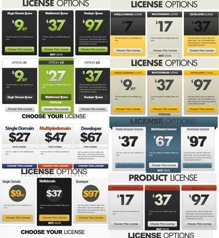 Web License Options Templates