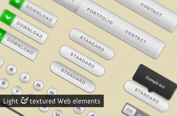 WeGraphics – Light and textured web elements kit