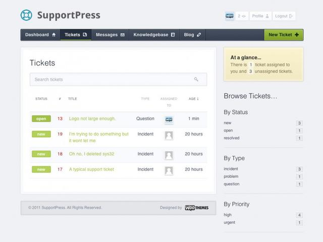 WooThemes SupportPress Theme 1.0.34 for WordPress