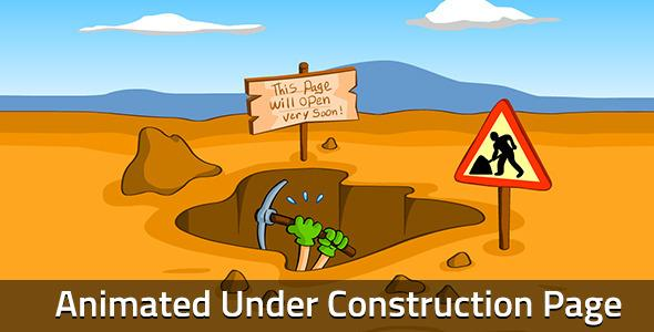 Worker Animated Under Construction Page