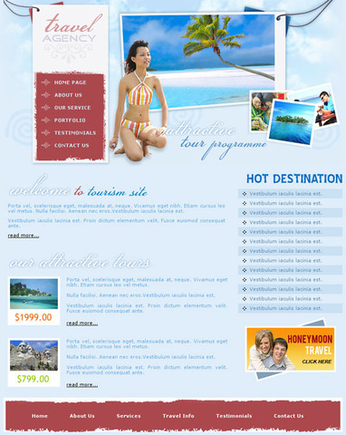 World Tours – Valid CSS Templates