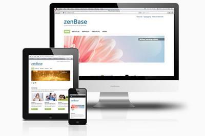 Zenbase free responsive Joomla 2.5& 3.0 Template