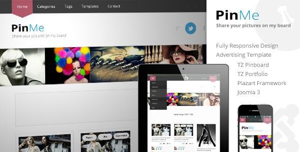 TemPlaza PinMe Template for Joomla 3.0
