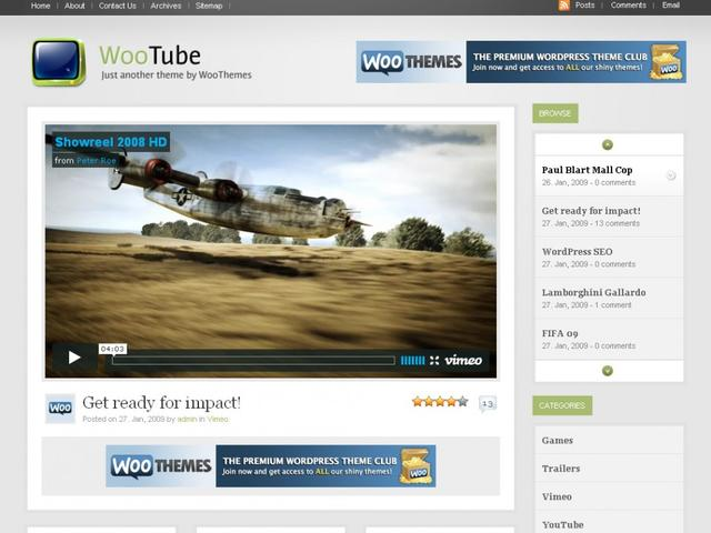 WooTheme – WooTube WordPress Theme v2.8.4