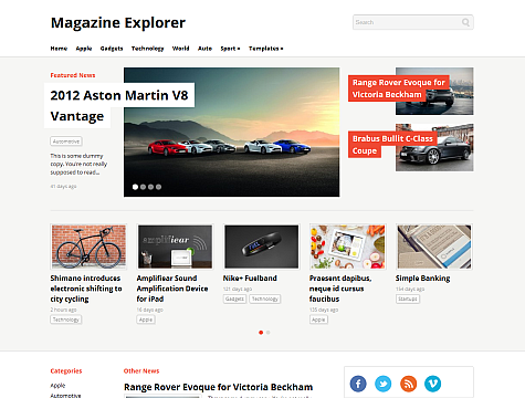 WPZoom – Magazine Explorer Theme v1.1 for WordPress