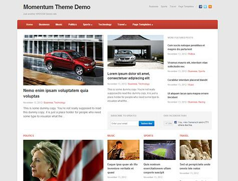 WPZoom Momentum Premium Theme for WordPress