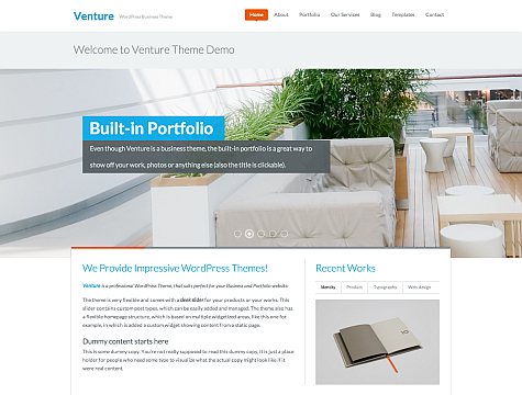 WPZoom – Venture Premium Theme v1.0.2 for WordPress