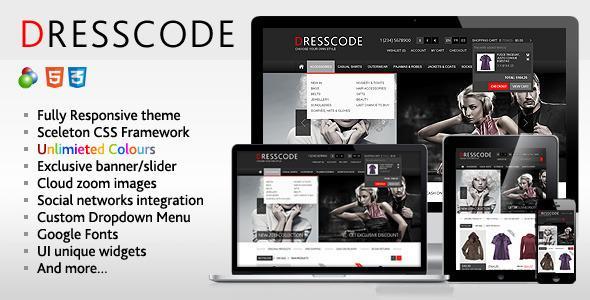 Dresscode – Responsive osCommerce Theme – FULL