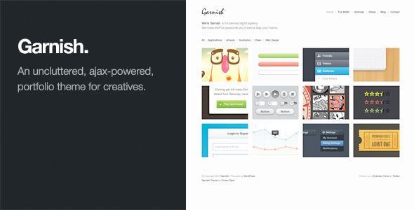 Garnish v1.3.1 – Clean-Cut WordPress Portfolio Theme